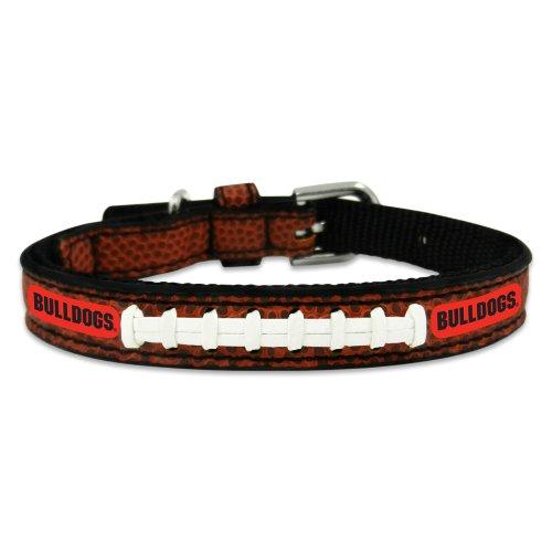 NCAA Georgia Bulldogs Classic Leather Football Collar, Toy