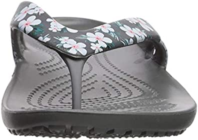 Crocs Womens Kadee Ii Graphic Flip Flops Water Shoes