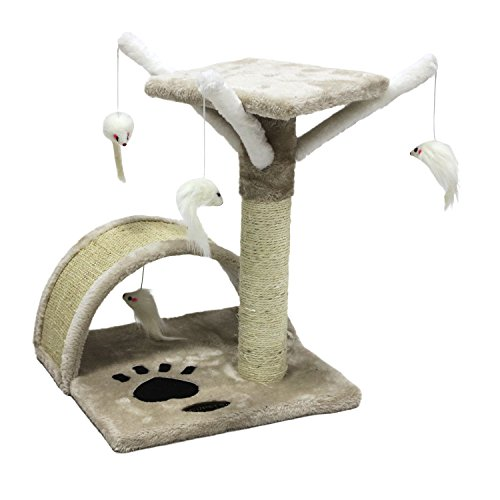 CUPETS Small Cat Tree Scratching Post Furniture Playhouse Kitten Toy