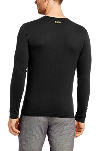 Hugo Boss Men's Black Togn 1 Long Sleeve Cotton Logo Basic Tee T-shirt (2XL)