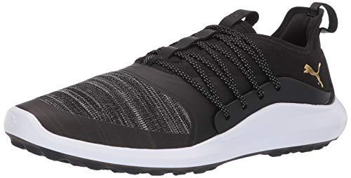 (PUMA Golf Men's Ignite Nxt Solelace Golf Shoe, Black Team Gold, 8 M)