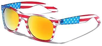 American Flag Classic Horn Rimmed Patriotic Sunglasses