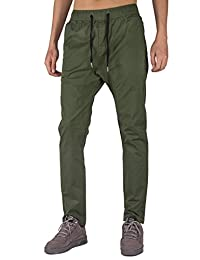 THE AWOKEN Men's Chino Jogger Pants Slim Fit