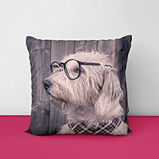 41g4QbR075L. SS320 Dog Wood Square Design Printed Cushion Cover