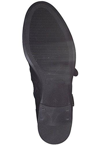 25011 Negro Piel Tamaris 21 Mujer Para Botas De Lisa dwfSfqOg