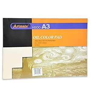 Artmate Oil Color Pads A3 Size, 12 Sheets - Jiskhsoc-a3