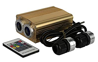 Decoration Fiber Optic Light Source 35w Led Engine Wireless Rf Remote Dual Output Optical Fiber Lamp