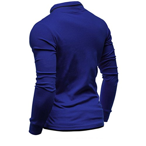Timur Maniche T Con Longsleeve Maglia Cotone Manga yesmile Uomo In Larga De Para Blu Lunghe Camiseta A Uomo Hombre shirt Solid Básica BhtsdQrCx