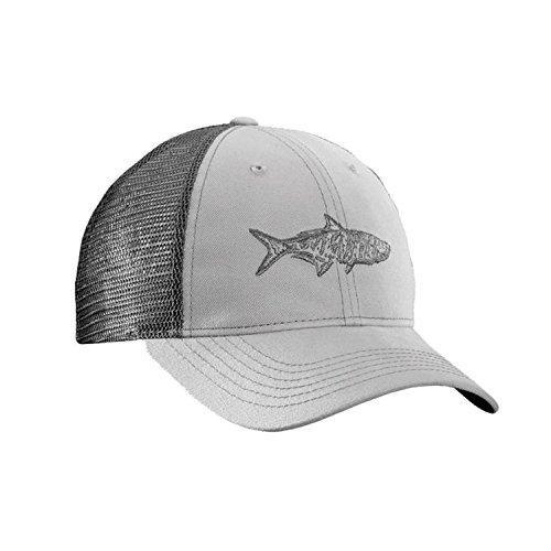 Flying Fisherman Tarpon Trucker Hat, Gray/Charcoal