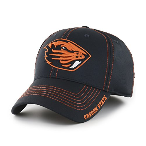 OTS NCAA Oregon State Beavers Adult Start Line Center Stretch Fit Hat, Medium/Large, Black (College Basketball Gear)