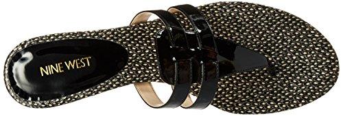 Nine West Fuera sintético vestido de la sandalia Black