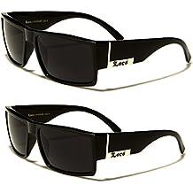2 Pack - Locs Sunglasses Black Gangster Sunglasses