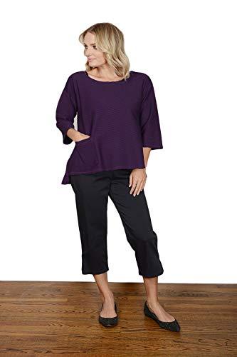 (Color Me Cotton Women's Cotton Sateen Cropped Pant Charcoal - Medium)