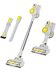 KIKET Cordless Vacuum Cleaner, 5 in 1 Lightweight Powerful Suction Lightweight Handheld Stick Vacuum with LED Brush, 30 Mins Run Time, Best for Hard Floor Carpet Pet Hair