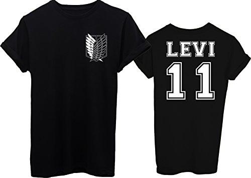 T shirt Scudo On Donna E Attack Fronte Retro s Titan nera Legione Levi rrw4Od0q