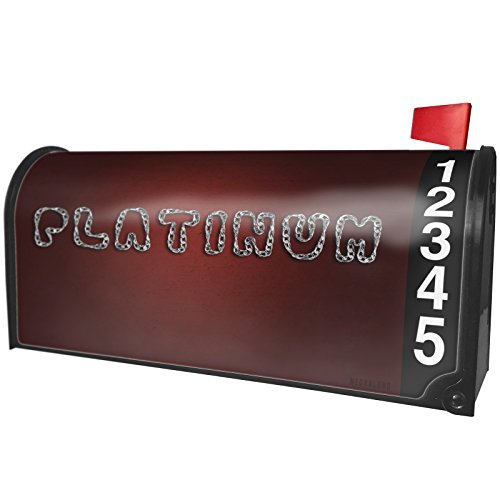 Custom Platinum Chains - NEONBLOND Platinum Silver Chain Lettering Magnetic Mailbox Cover Custom Numbers