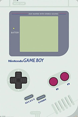 Nintendo Game Boy Console Video Game Poster