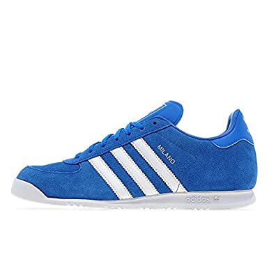 3300c87225a2 adidas Originals Milano Originals Mid Blue White Suede Mens (UK 12   US 12.5