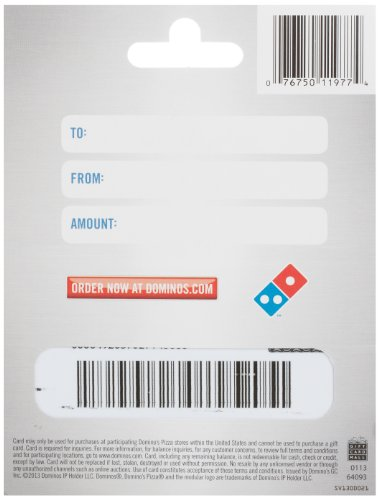 Amazon.com: Domino's Pizza Gift Card $20: Gift Cards
