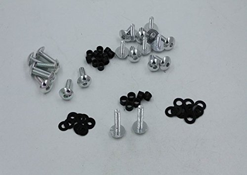 Replacment of Motorcycle Silver Normal Fairing Bolts Kit For 2003-2006 Kawasaki Ninja Zx6R Zx 636 Zx6Rr new XKH