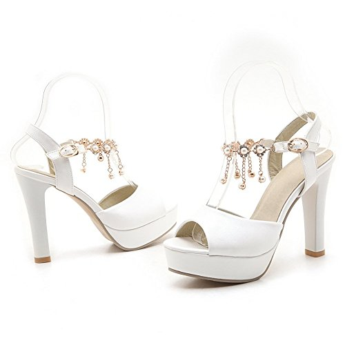 MJS03621 36 1TO9 5 Blanc Femme Plateforme Inconnu Blanc Pwxa7q74