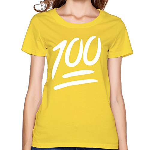 VOLTE 100 Emoji Logo Women's Brand New Tees XL Yellow (Kitchenaid Mixer Bolt compare prices)