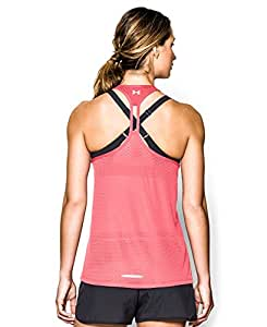 Under Armour Women's UA Fly-By Stretch Mesh Tank Large BRILLIANCE