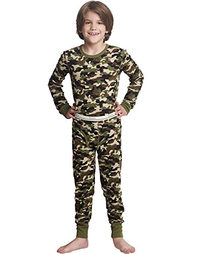 Hanes X-Temp Boys` Thermal Set, 34500, S, Camo Boys Camo Thermal