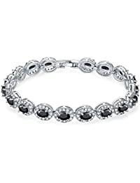 Buckle Bracelet Platinum Plated Fashion Cubic Zirconia Bangle for Women Girls Gift