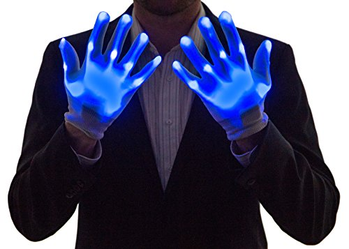 Price comparison product image Neon Nightlife Light Up Gloves for Kids, LED, Blue
