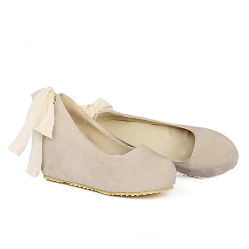 BalaMasa Womens Changeable Solid Imitated Leather Pumps-Shoes Beige ozCvj6Yk