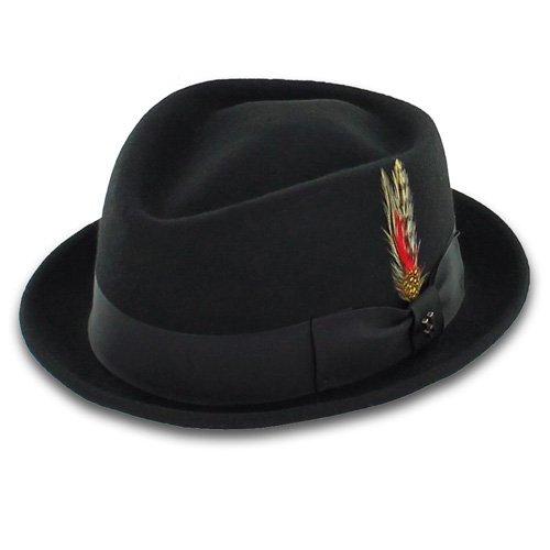 Cheap Pork Pie Hats (Belfry Jazz - Wool Diamond Porkpie (XXL, Black))