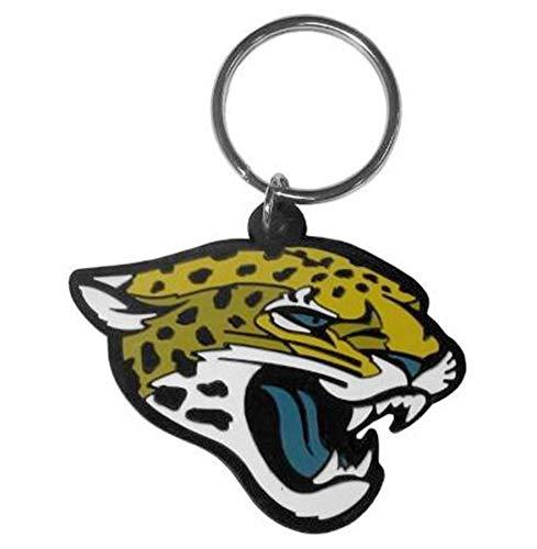 Stockdale Jacksonville Jaguars Flex Key Chain Flexible Rubber w/Key Ring Football - Jacksonville Jaguars Key Ring