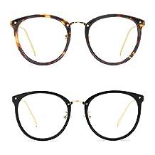 TIJN Vintage Optical Acetate Eyewear Eyeglasses Frame with Clear Lenses