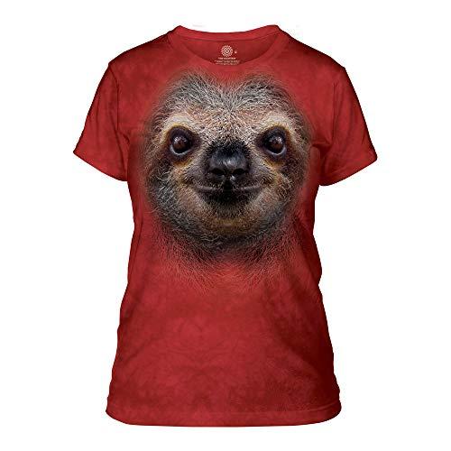 The Mountain Women's Sloth Face Apparel, red Medium