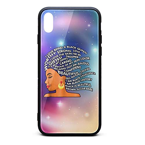 Black History Month I Am Black Excellence Strong Woman Word Art Hair Personalised Accessories Best Cell iPhone x xs case