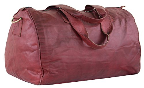Red Leather Duffle Bag - 5