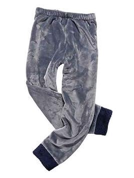 24station Pantalones de chándal de Coral para Hombres de Invierno ...