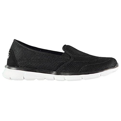 Slazenger Femmes Zeal Chaussures De Sport Slip on Noir/Blanc 36