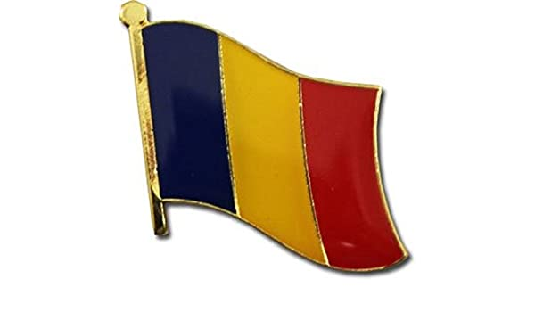 Wholesale Pack of 6 Chad Country Flag Bike Hat Cap lapel Pin