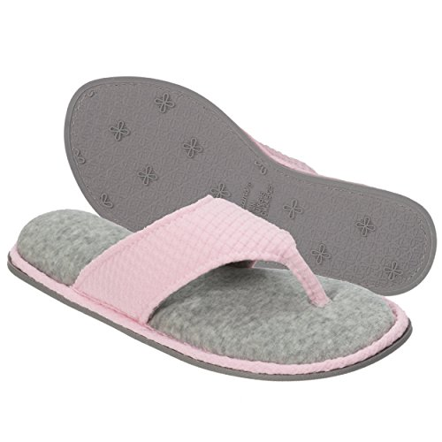 Thong Dearfoams Knit Pink Textured Fresh Slipper Women's qAAWB7xa