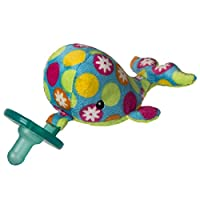 Wubbanub Soft Toy and Pacifier, Bubbly Whale