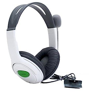 SODIAL Auriculares Estereo Headphone Cascos con minifono para la Consola XBox 360 Blanco