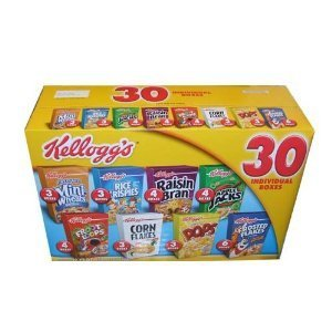 Kellogg's Cereal 30 Individual Box Variety Pack 32.73 Total Ounces - Value ()