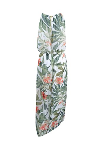 Dress Apparel Floral Maxi Connected Blouson Womens Green Print YnUUqaS