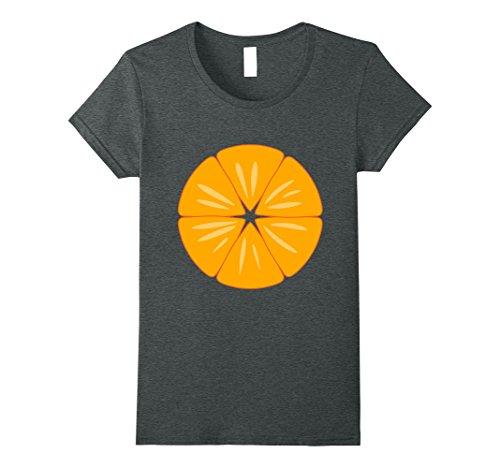(Womens Halloween Mandarin Clementine Orange Fruit Lover Costume Tee XL Dark)