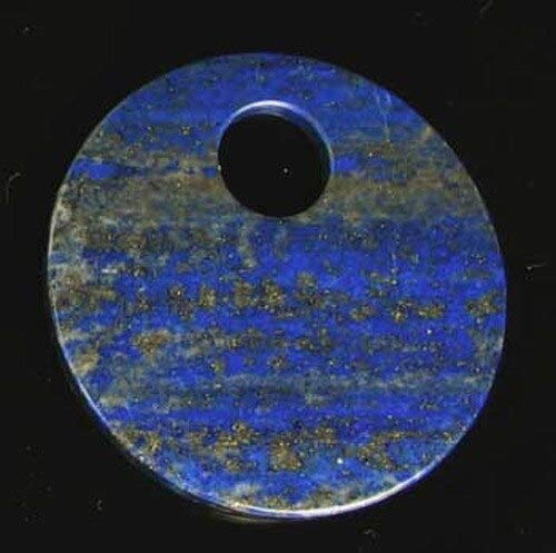 - Starry Night Natural Lapis 50mm Disc Pendant Bead for Jewelry Making 9362I