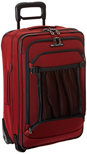 [Briggs & Riley Domestic Carry-On Expandable Upright, Crimson, One Size] (Red Creek Brushes)