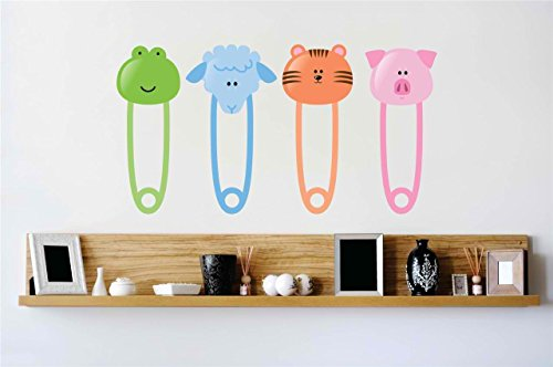 Design With Vinyl Baby Safety Pin Wall Decal Color  As Se...
