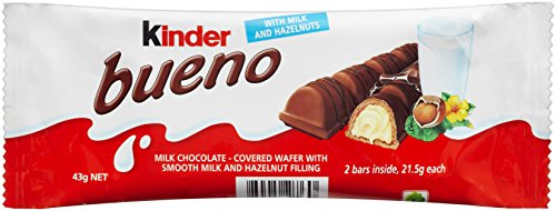 - Ferrero Kinder Bueno Bars, 30Count, Brown